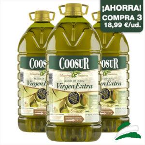 3 garrafas aceite de oliva virgen extra 5l coosur_grande