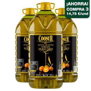 aceite de oliva virgen serie oro coosur
