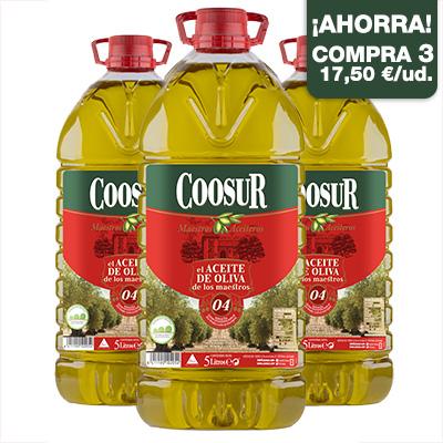 aceite de oliva sabor suave 5 l pack 3
