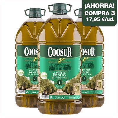 ahorro pack aceite de oliva intenso 5 litros coosur