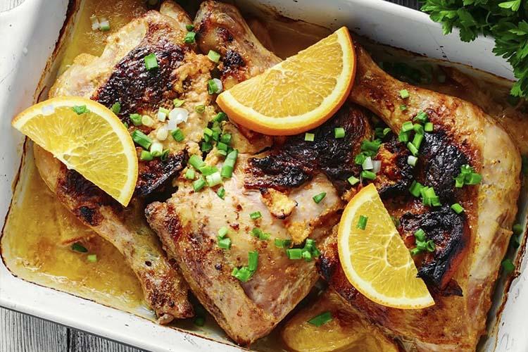 Cuartos traseros de pollo con cítricos | Coosur